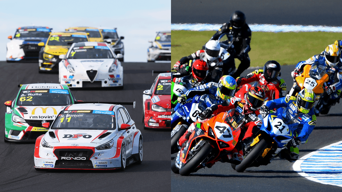 Two and four wheels join together at Phillip Island in February